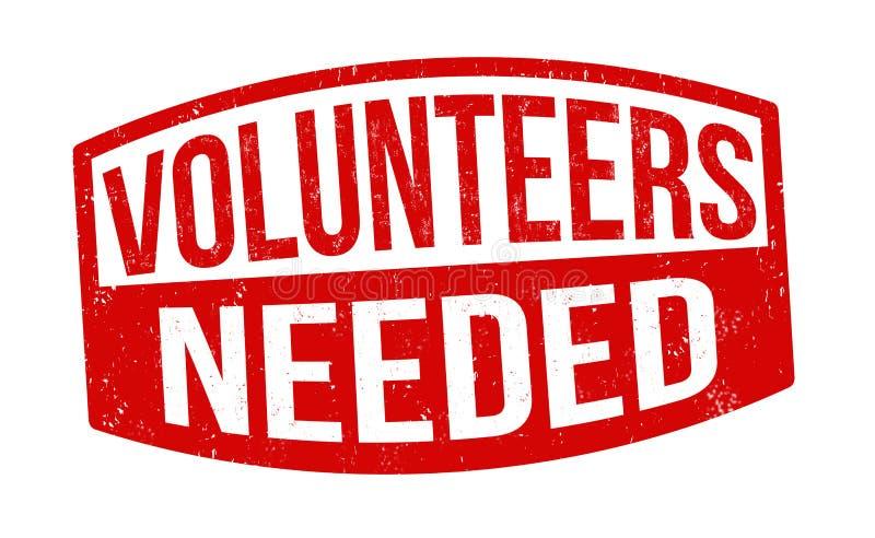 志愿者需要签名或盖章 皇族释放例证