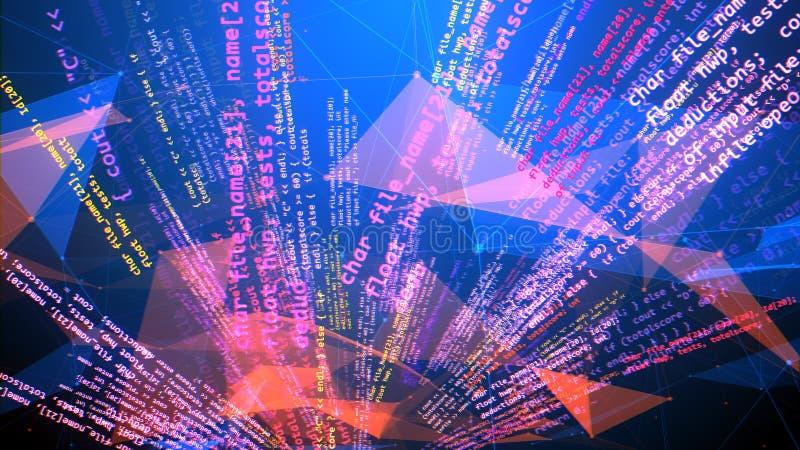 忙碌螺旋和变形编码节目 皇族释放例证