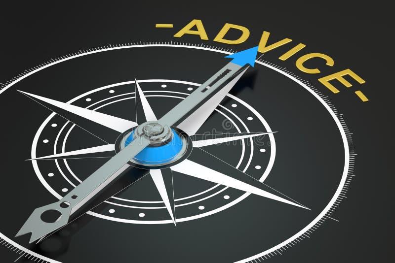 忠告指南针概念 库存例证