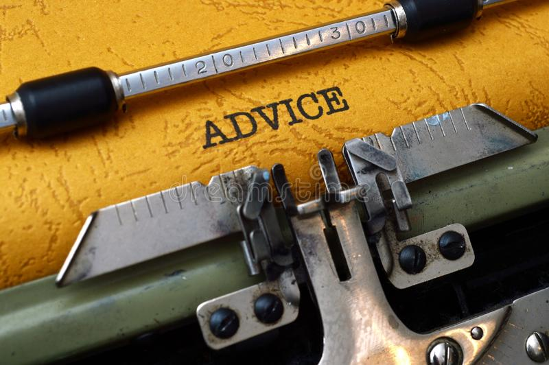 忠告概念 免版税库存照片