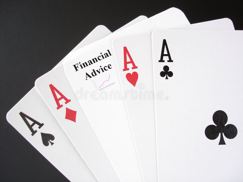 忠告财务赌博 免版税图库摄影