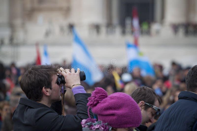 忠实在圣皮特的广场 免版税库存图片