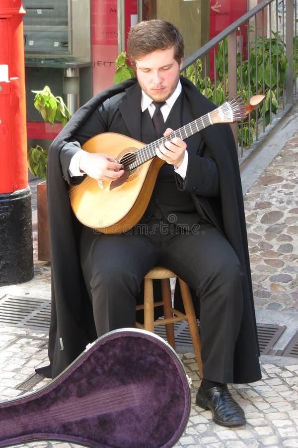 忧伤吉他演奏员 免版税库存照片