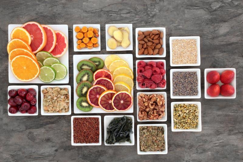 忧虑和应力消除健康食品 库存图片