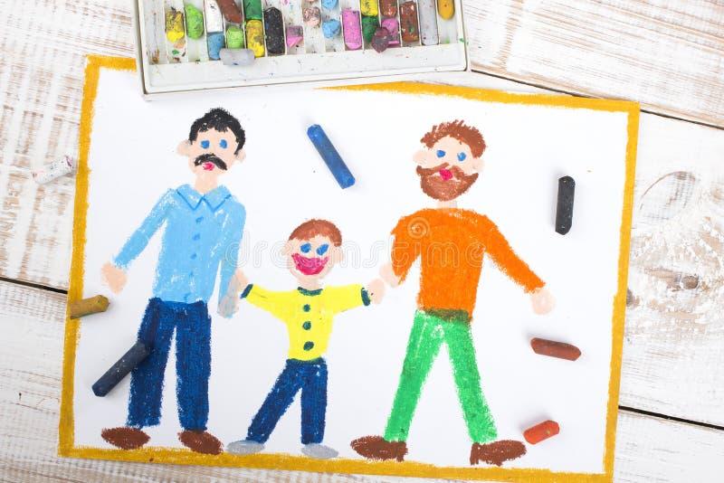 快乐夫妇和被领养的孩子 免版税库存照片