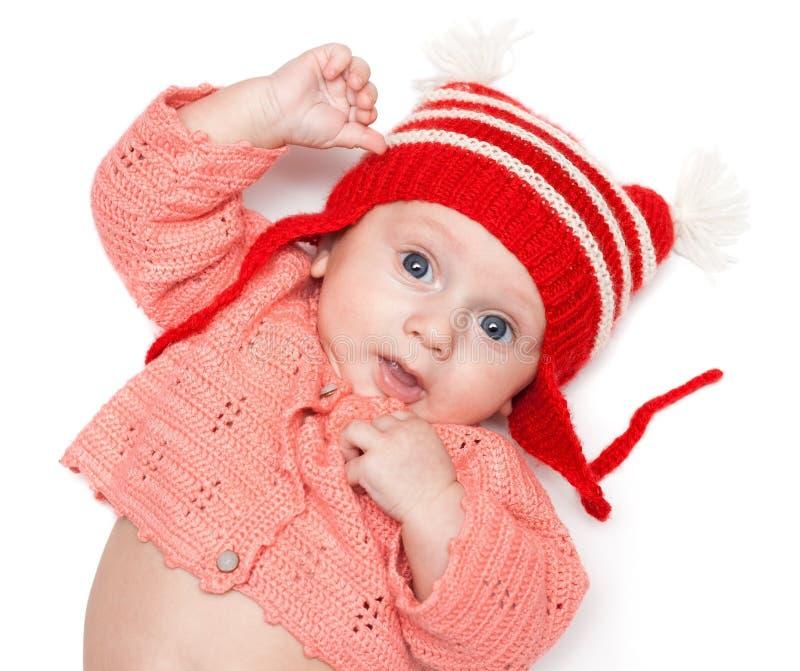 快乐婴孩的帽子 免版税图库摄影