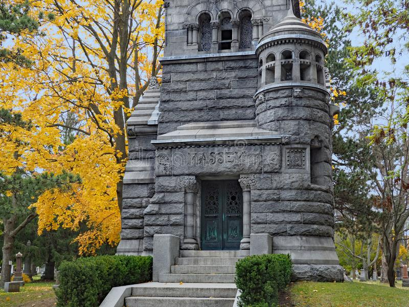 快乐山公墓在多伦多 免版税图库摄影