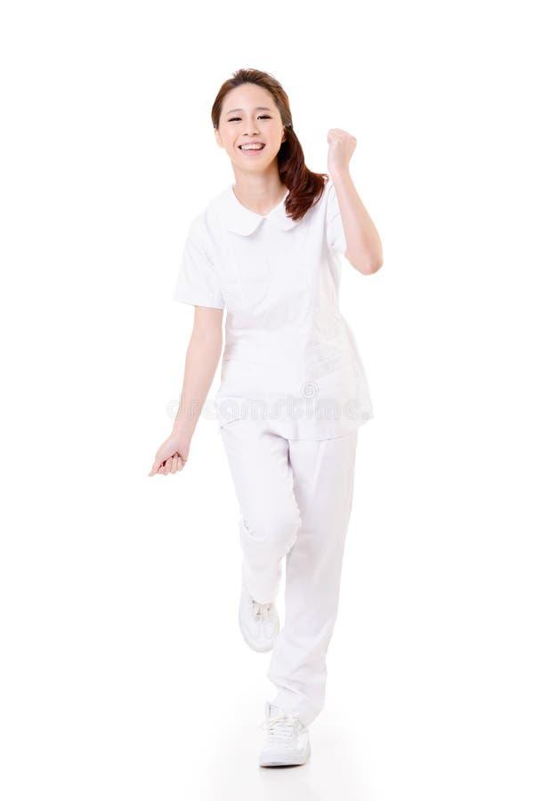 快乐的亚裔护士 库存照片