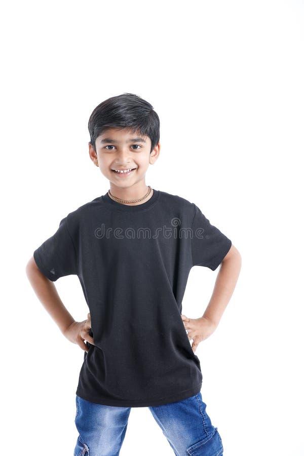 快乐的印度小男孩 免版税图库摄影