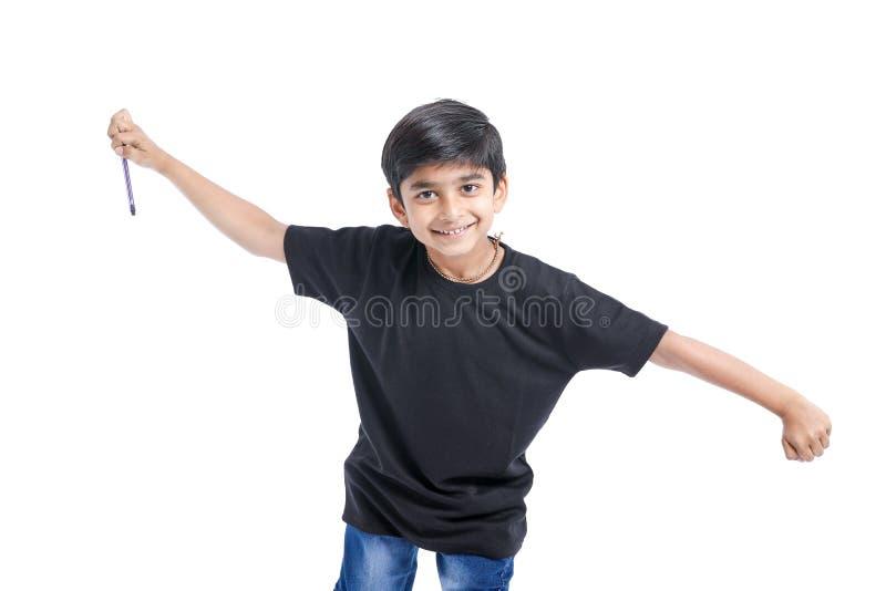 快乐的印度小男孩 库存图片