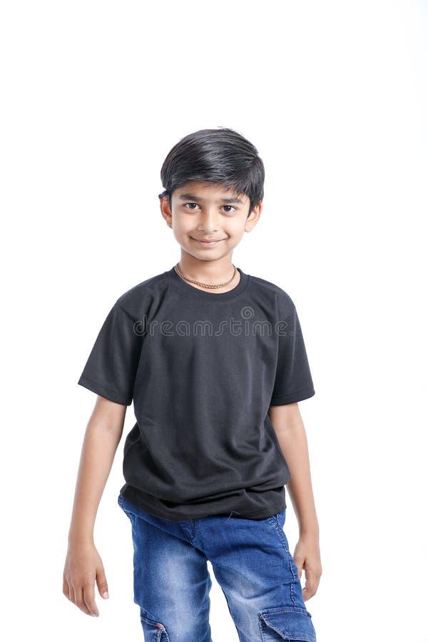 快乐的印度小男孩 库存照片