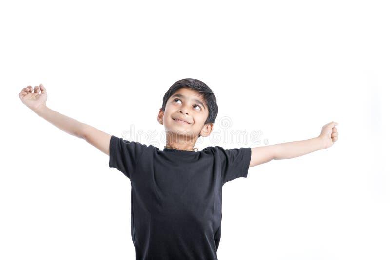快乐的印度小男孩 图库摄影