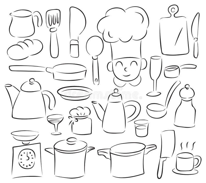快乐的厨房 免版税库存照片