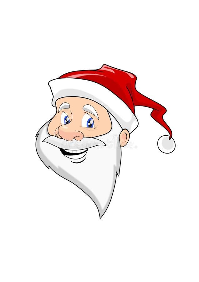 快乐的圣诞老人项目-被隔绝的顶头图象 库存例证