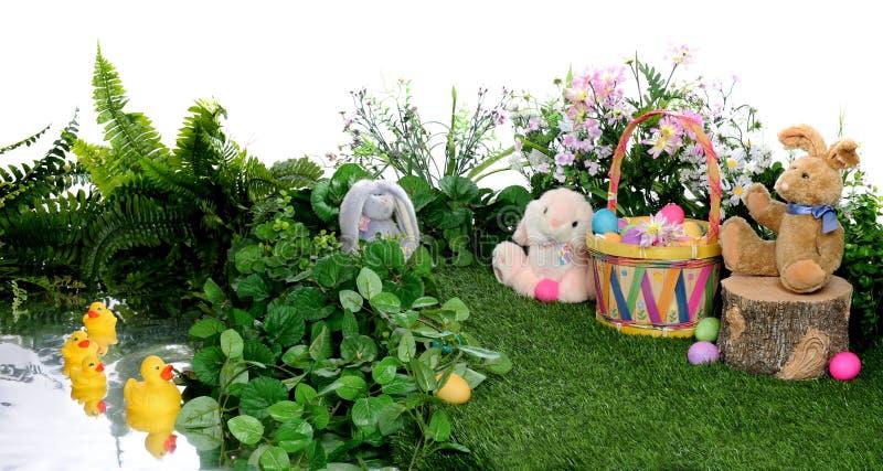 快乐的复活节场面 库存图片