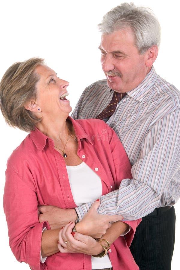 快乐的夫妇成熟 免版税图库摄影