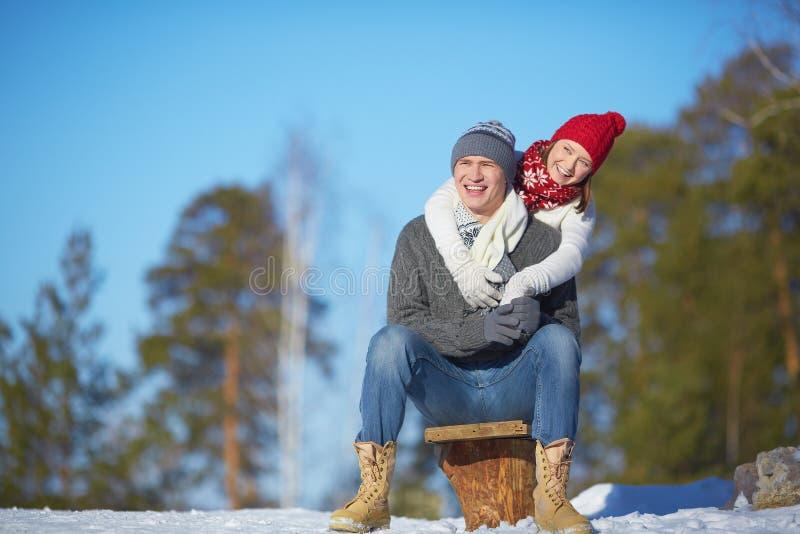 快乐的夫妇 免版税库存图片