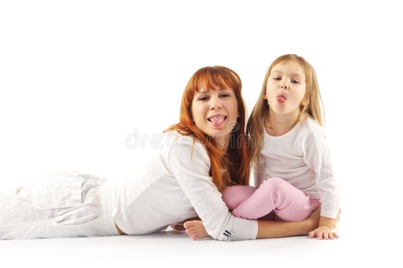 快乐的女儿母亲 免版税库存照片