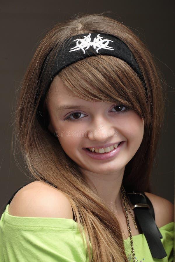 快乐的女孩年轻人 库存照片