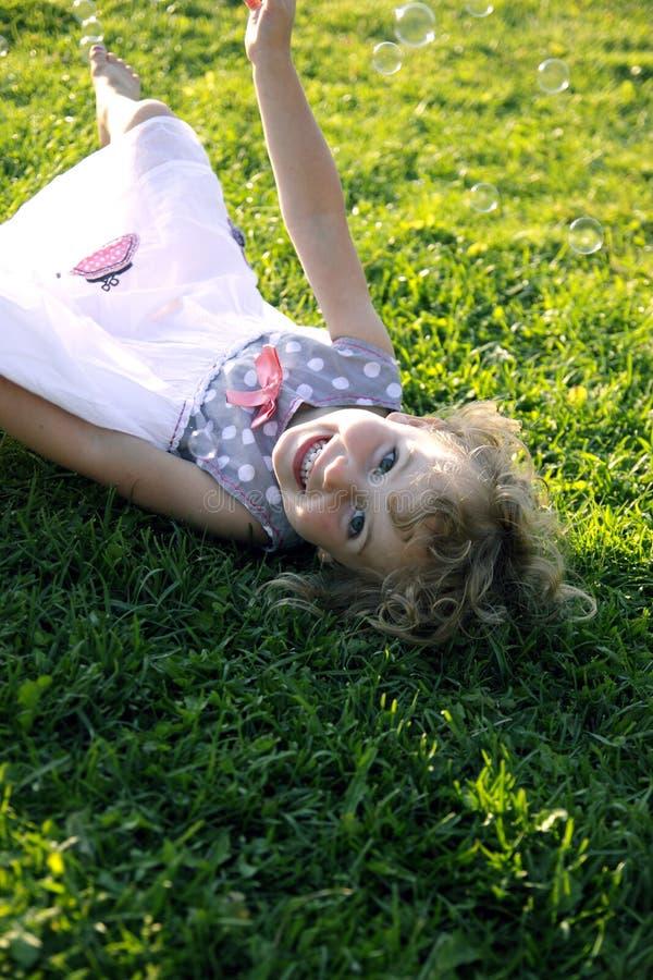 快乐的女孩 库存图片