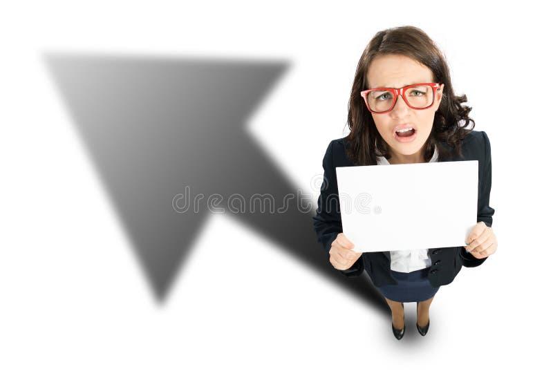 快乐的女实业家 免版税图库摄影