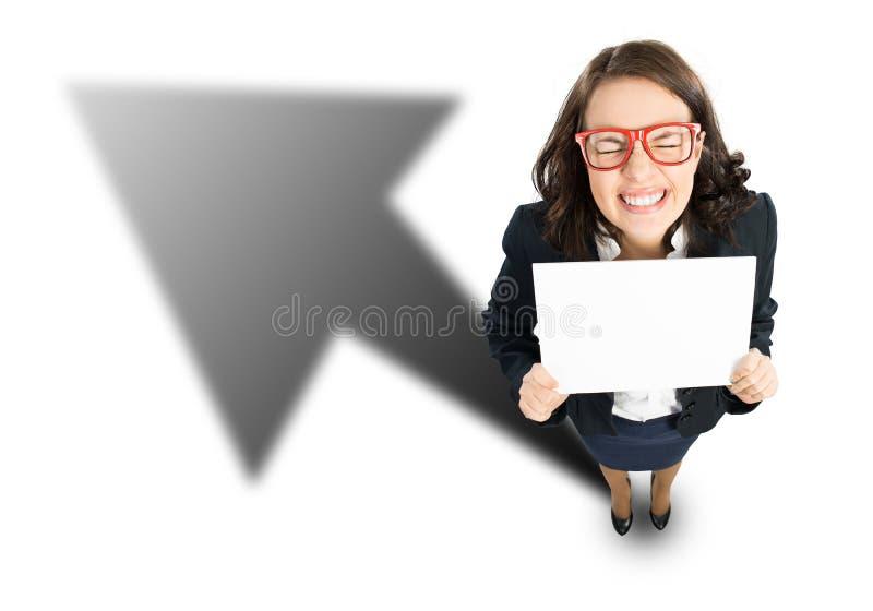 快乐的女实业家 库存照片