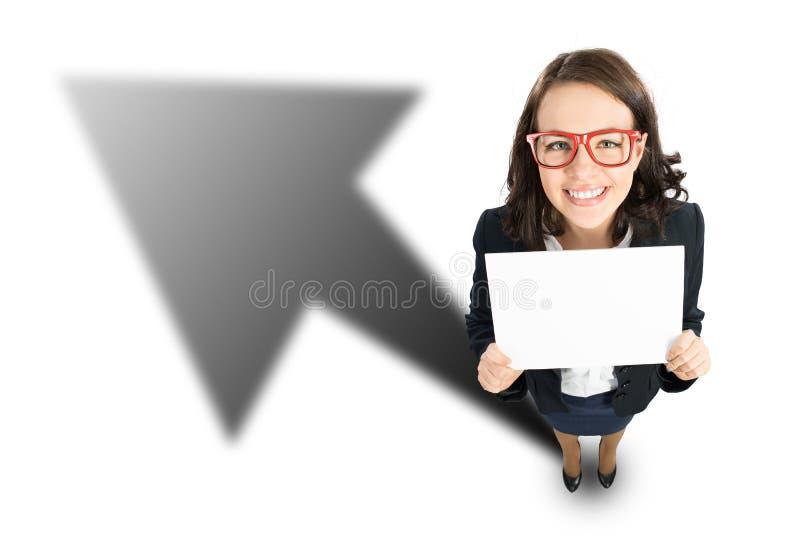 快乐的女实业家 库存图片