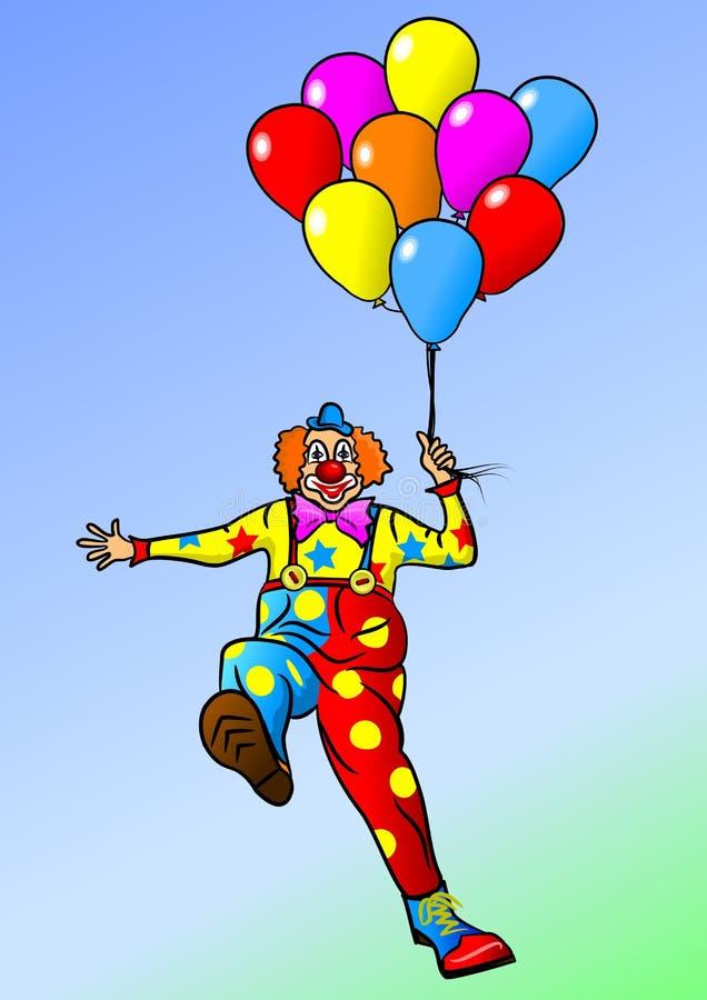快乐的小丑 向量例证