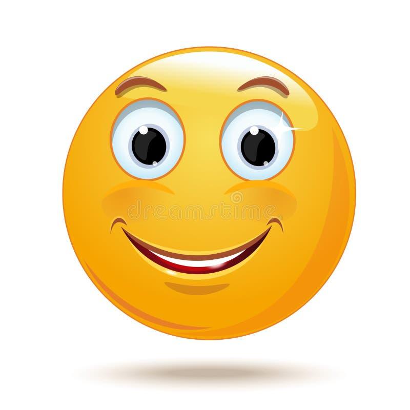 快乐的微笑的面带笑容 皇族释放例证