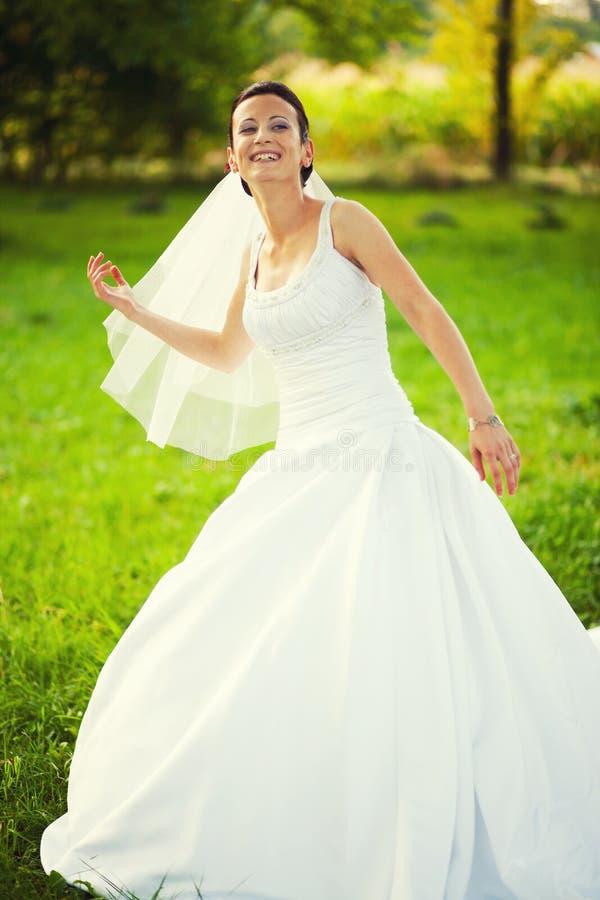 快乐的新娘婚礼之日 免版税库存图片