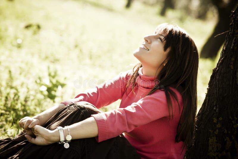 快乐的森林妇女 免版税图库摄影
