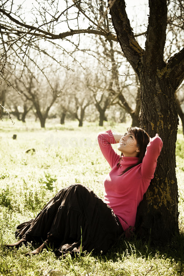快乐的森林妇女 免版税库存照片