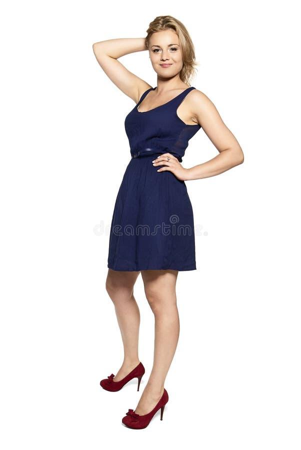 快乐的纵向妇女年轻人 库存照片