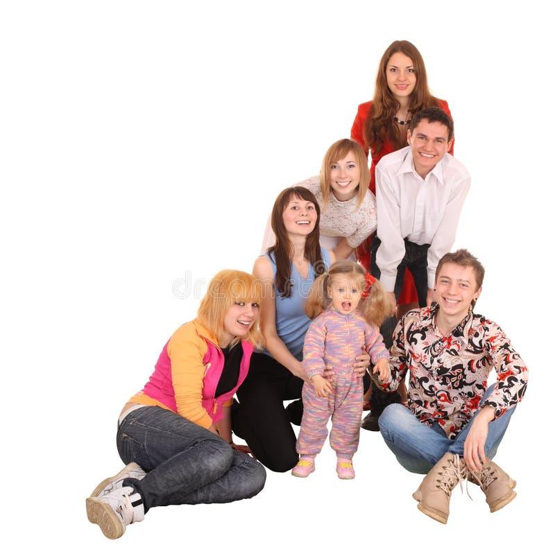 快乐的组人年轻人 免版税图库摄影