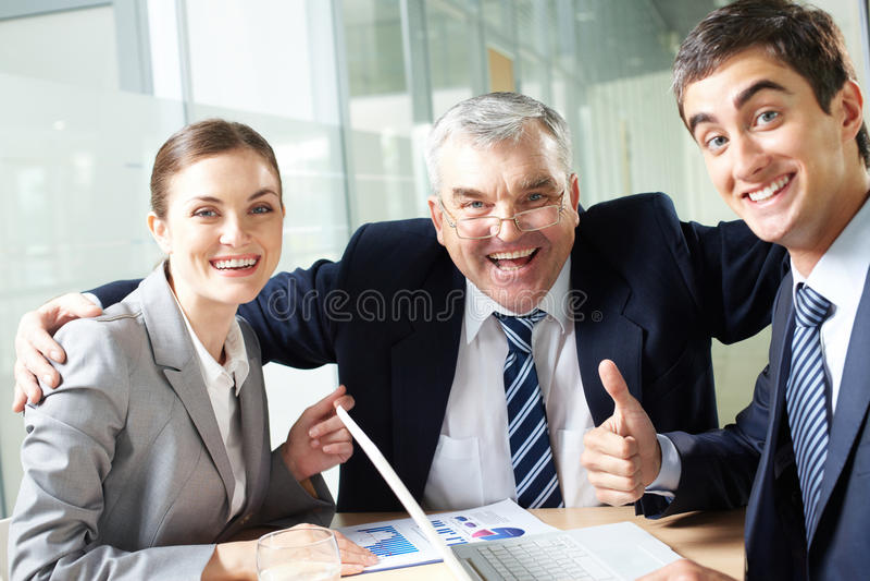 快乐的组 免版税图库摄影
