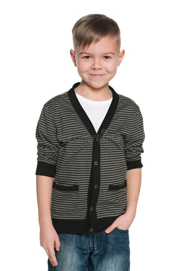 Download 快乐的英俊的年轻男孩 库存图片. 图片 包括有 孩子, 强加, 逗人喜爱, 童年, 微笑, 镶边, 牛仔裤 - 30335079