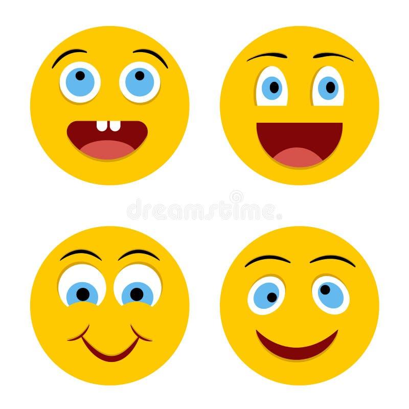 快乐的面带笑容 库存例证