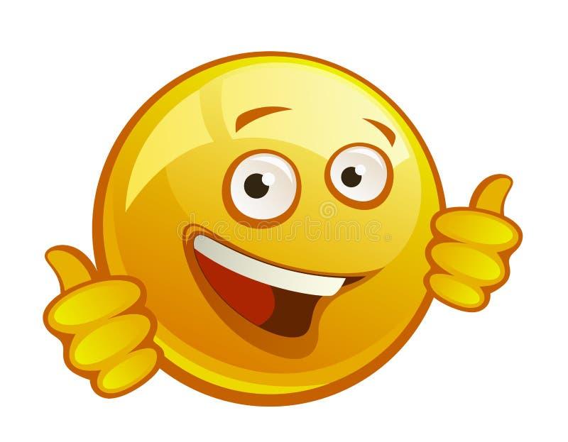 快乐的黄色面带笑容 库存例证