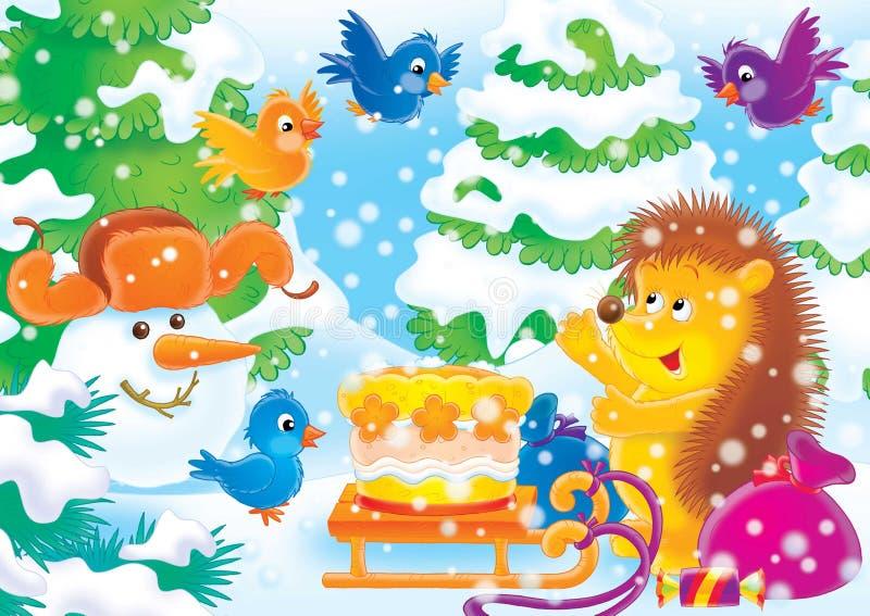 Download 快乐19个的动物 库存例证. 插画 包括有 毛皮, 冬天, 子项, 结构树, 木头, 茴香酒, 雪球, 12月 - 189229