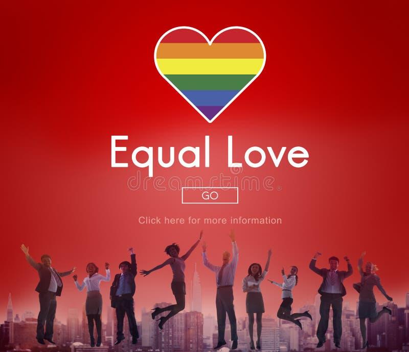 快乐LGBT均等纠正同性恋概念 库存照片