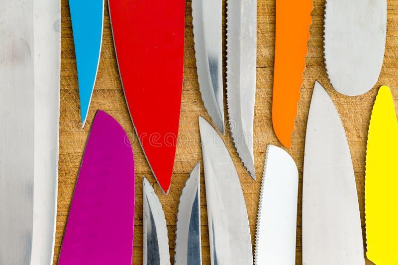 快刀刀片的平的位置背景  图库摄影