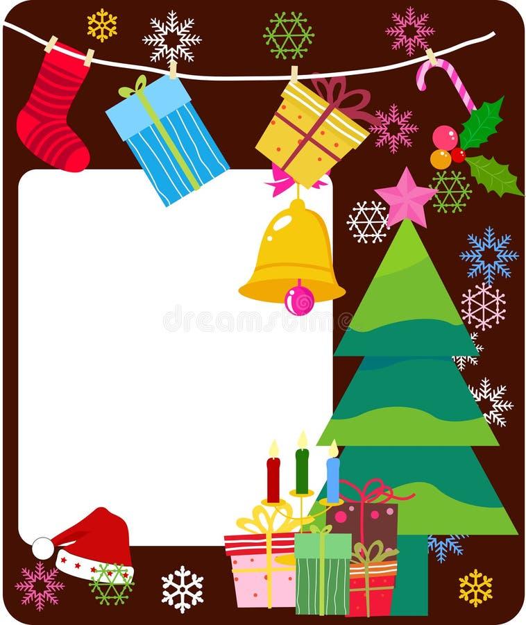 快活圣诞节的框架 向量例证