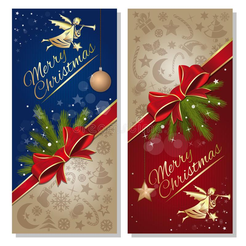 快活的圣诞节 E 向量例证