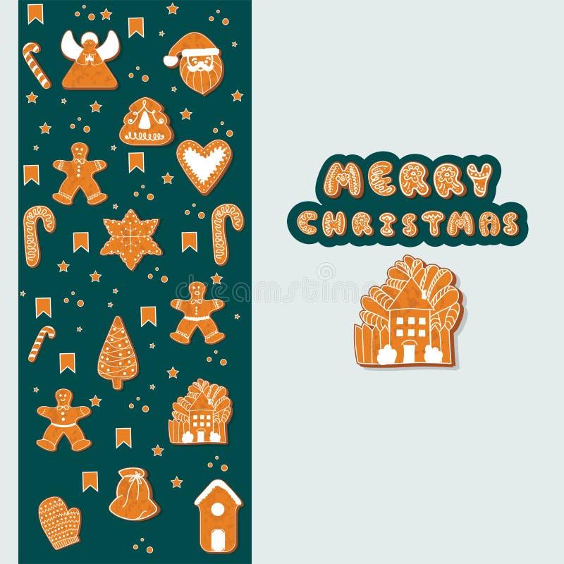 快活的ChristmasXmas贺卡模板 愉快的寒假海报 新年度 圣诞节假日横幅 向量例证