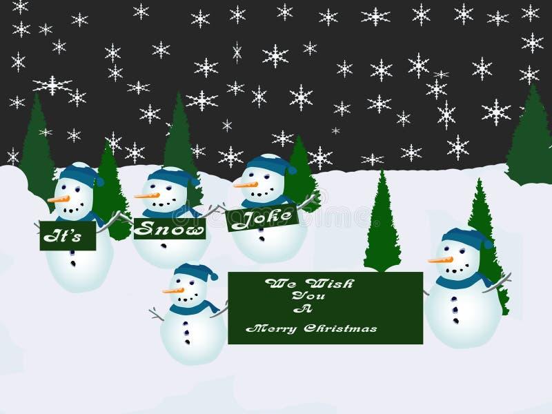 快活看板卡的圣诞节 向量例证