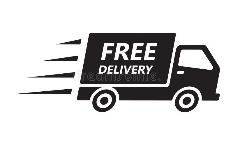 快速和自由运输送货卡车 向量例证