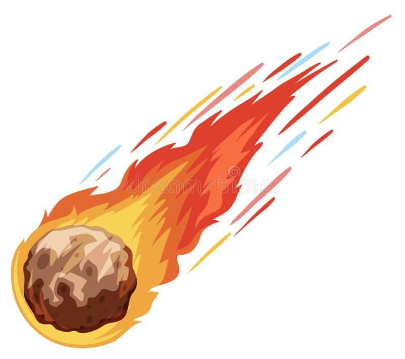 快速地跌倒的彗星 皇族释放例证