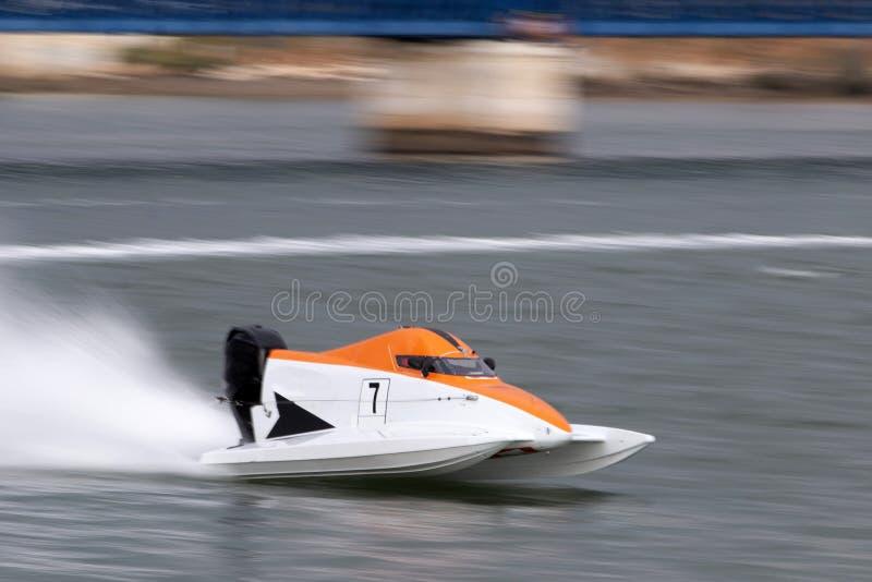 快速快速汽艇赛跑 库存图片