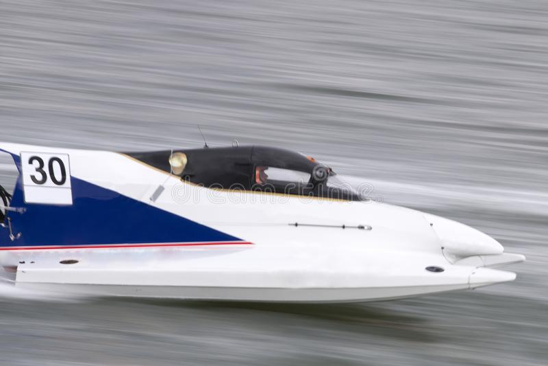 快速快速汽艇赛跑 免版税库存图片