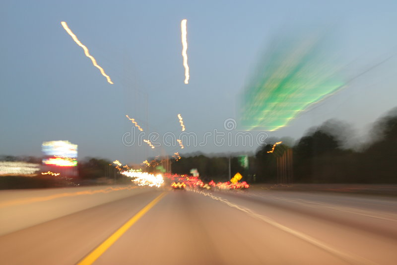 快速是光时跟踪 库存照片